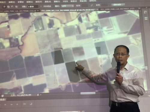 福衛5号の撮影画像について説明をする国家宇宙センターの余憲政副主任