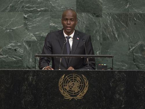 国連総会の一般討論演説で台湾支持を表明するハイチのモイーズ大統領=国連HPより