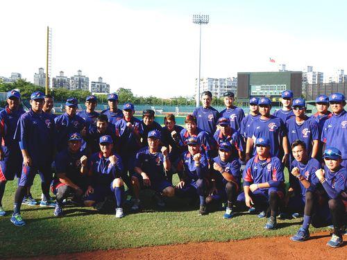 アジア野球選手権大会に出場する台湾代表チーム