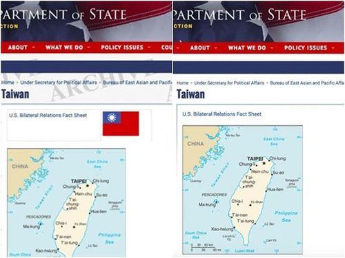 米国務省サイト、中華民国国旗を削除 「米側と意思疎通図る」=外相/台湾