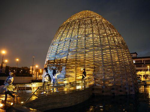 竹のドーム、都会のオアシスに  台北市立美術館広場に登場/台湾