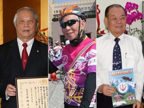 受章した(左から)頼浩敏氏、劉金標氏、何春樹氏