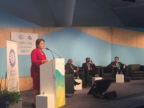 COP23の会場内の様子=国連気候変動枠組条約の公式ツイッターより