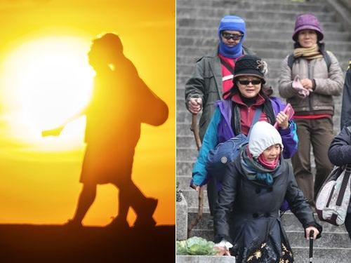 汗ばむ陽気から一変 週末の台湾は各地で気温が急降下