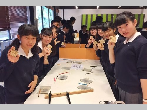 日本の修学旅行生、台湾の高校を訪問 木工芸品づくりなどで交流