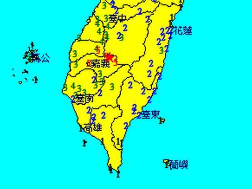 台湾・阿里山でM5.5