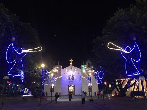 万金聖母聖殿のイルミネーション=万巒郷公所(役所)提供