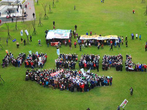 大気汚染に「ノー」  複数の民間団体が中南部でデモ行進/台湾