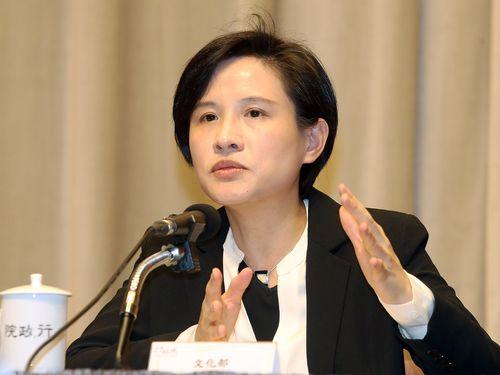28日の記者会見で国家人権博物館の設立について説明を行う鄭麗君文化部長(文化相)