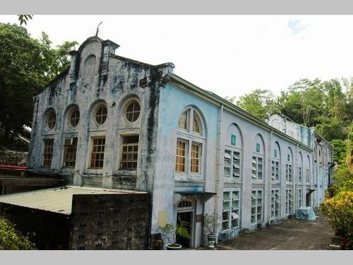 竹仔門電廠のバロック様式の建屋=台湾電力提供