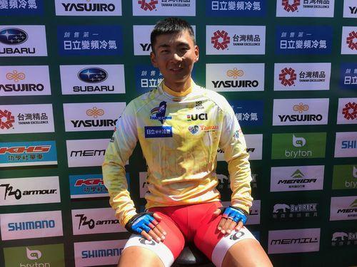 「ツール・ド・台湾」の第1ステージで4冠に輝いた岡本隼選手