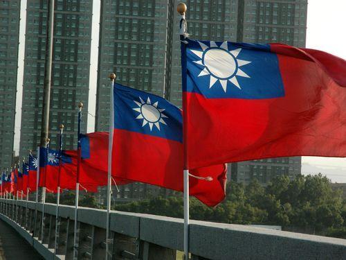 中華民国(台湾)国旗=資料写真