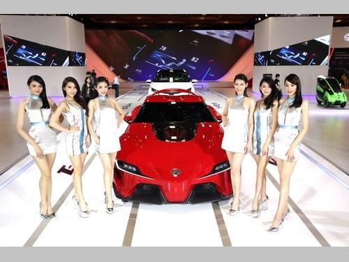 台北国際オートショーに出展するトヨタ車=資料写真