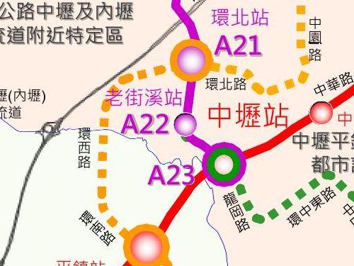 延伸区間の路線図=桃園メトロ提供