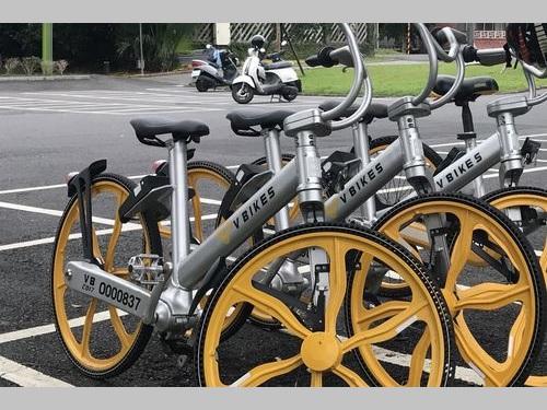 「V BIKES」の自転車