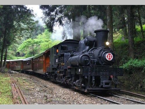 阿里山森林鉄道の車両=嘉義林区管理処提供