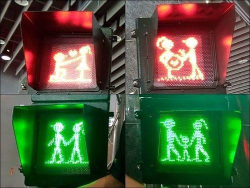 変化しつつある屏東県の歩行者用信号