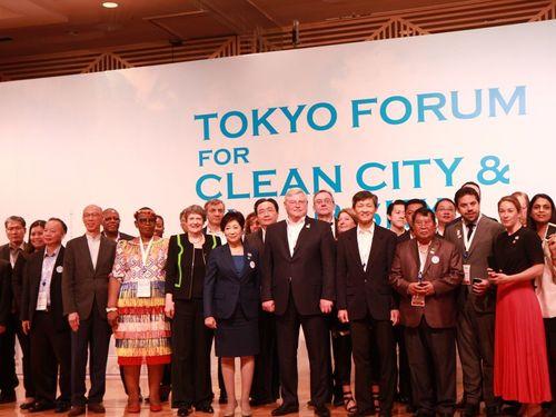 「きれいな空と都市・東京フォーラム」の参会者ら=台北市環境保護局HPより