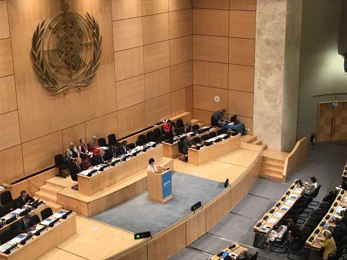 世界保健機関(WHO)年次総会の会場