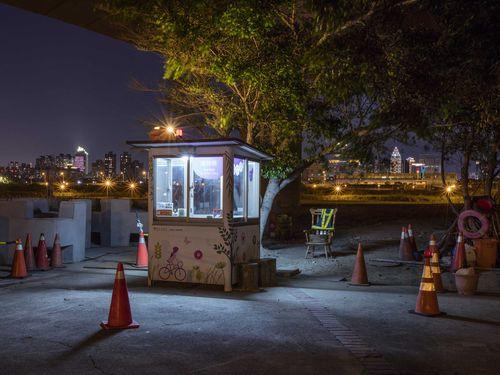 林俊耀さんが写真に収める台湾の警備小屋=本人提供