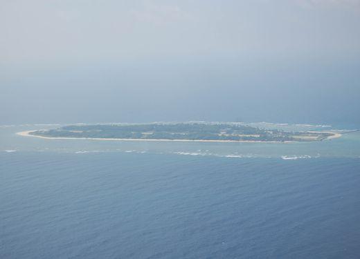 南シナ海に浮かぶ太平島