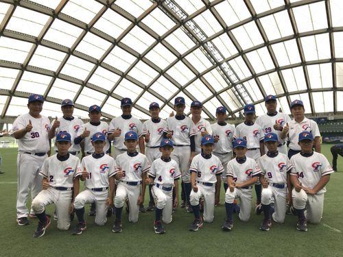2年ぶりにアジアの頂点に立つ台湾代表=中華民国野球協会提供