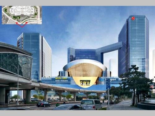 「ららぽーと 台湾南港(仮称)」の完成イメージ=台北市環境保護局提供