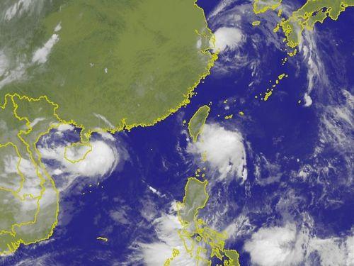 台湾付近の衛星画像=中央気象局提供