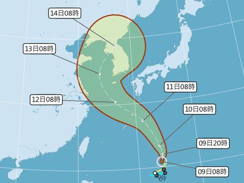 台風進路図=中央気象局提供