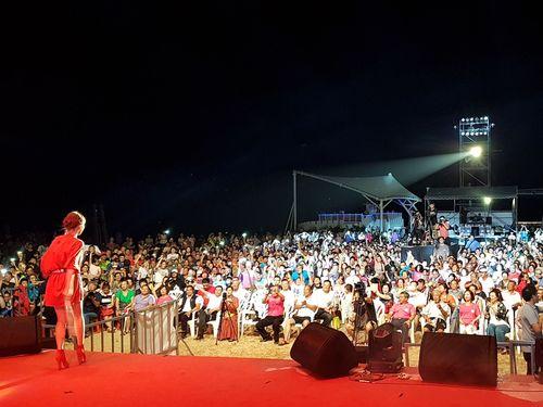 金門で7月25日に開幕した音楽フェス「Quemoy国際海島音楽季」の様子=金門県政府提供