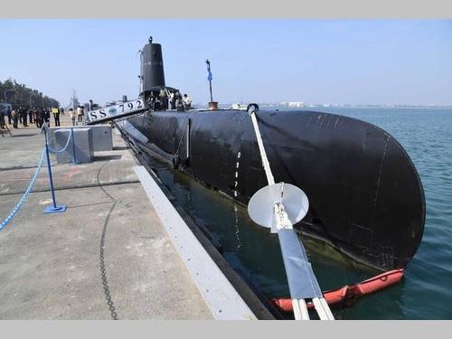 昨年、報道陣に公開された海軍の米国製潜水艦「海豹号」