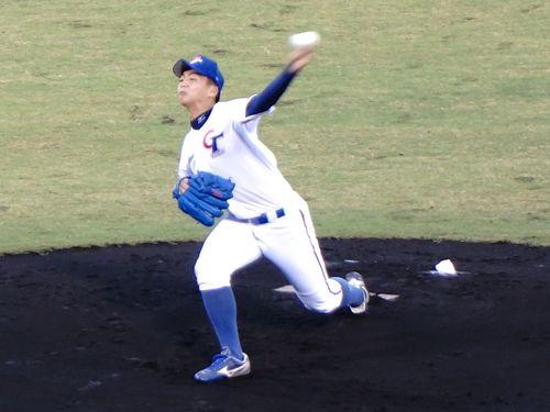 高校日本代表を相手に完投勝利を挙げた王彦程