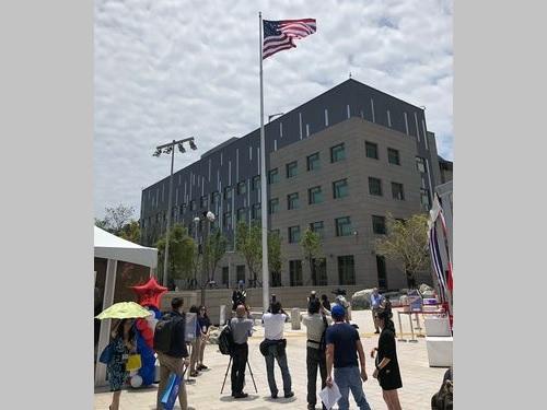 台北市内湖にある米国在台協会(AIT)台北事務所(大使館に相当)の新庁舎