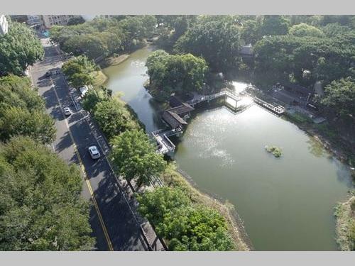 新竹公園の「麗池園林エリア」=新竹市政府提供