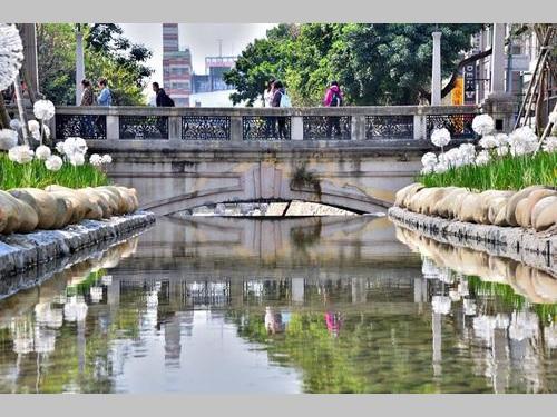台中市の緑川=同市水利局提供
