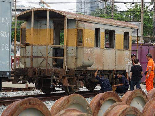 台北機廠鉄道博物館に保存されることになる緩急車「BV.15092」