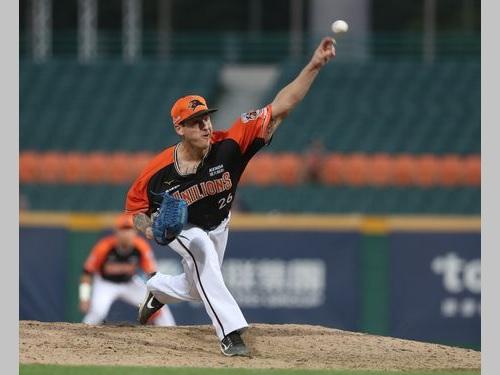 台湾プロ野球史上初の完全試合を達成したライアン・バーダゴ投手=資料写真