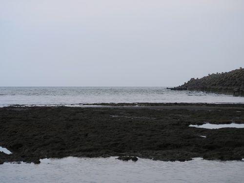 天然ガス受け入れ基地の建設が予定される桃園市の沿岸部