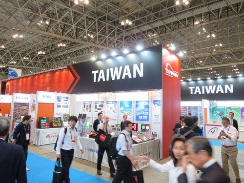 「CEATECジャパン2018」会場内の台湾パビリオン