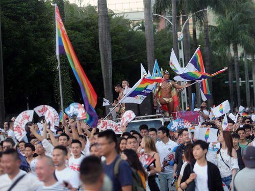 LGBTパレードの様子