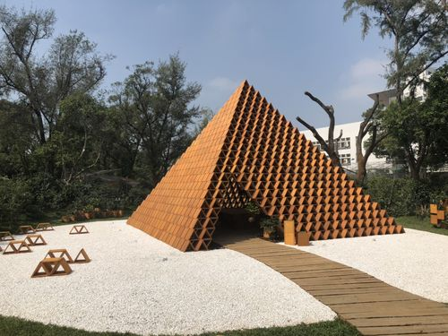 隈研吾さんが設計した「台開三角積木概念館」