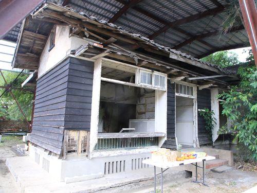 修復工事が始まる旧日本軍の士官宿舎=基隆市政府提供