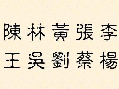 台湾の名字、1位は「陳」  トップ10の姓が人口半分超占める