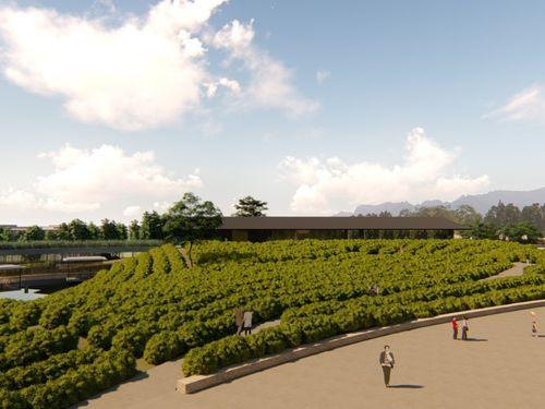 「台湾客家茶文化館」の完成イメージ図=桃園市政府提供