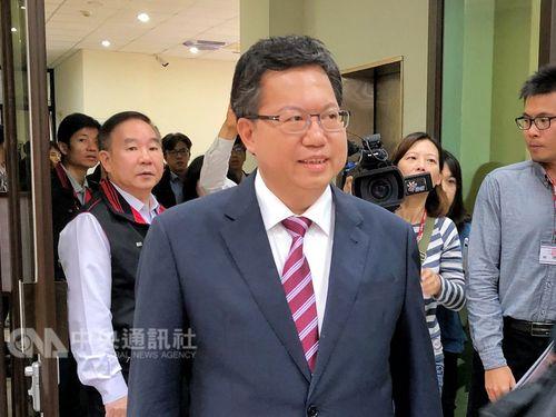 支持を訴える現職の鄭文燦桃園市長