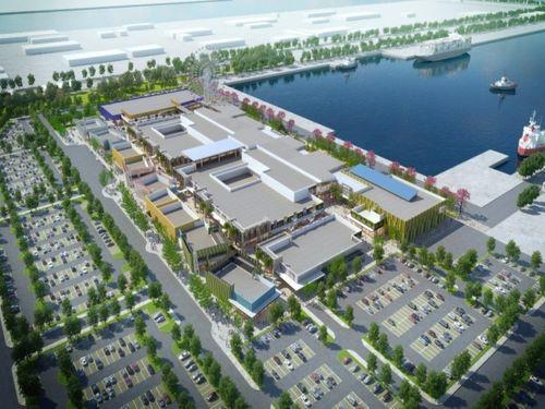 「三井アウトレットパーク 台中港」の完成イメージ図=台湾港務提供