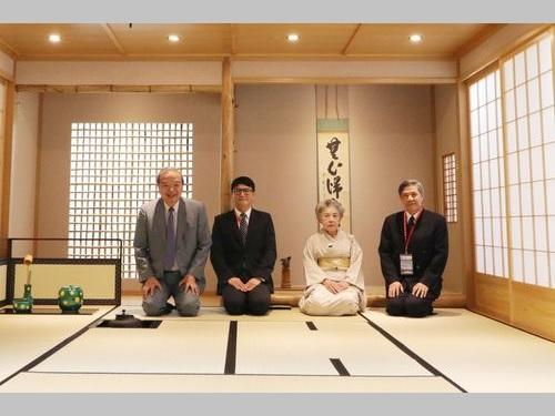 銘伝大学の桃園キャンパス内にある日本茶道教室=同大提供