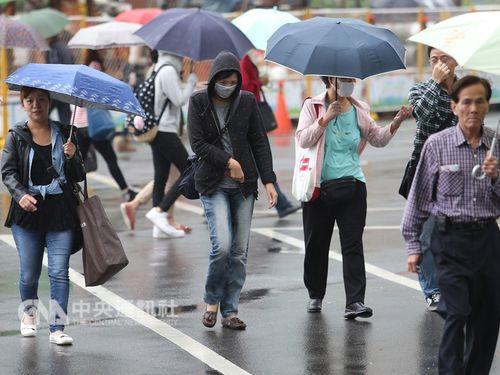 北東の季節風により、9日の北部台湾一日を通して肌寒くなる