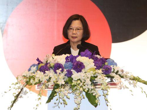 「アジア民主人権賞」の授賞式に出席する蔡英文総統
