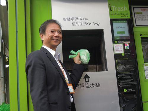 24時間ごみ出し可能な台北市内のスマート収集ボックス